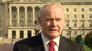 Mr McGuinness was speaking to the media before heading into the political talks