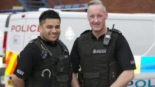 PC Adnan Ali and PC Peter Goulding