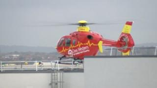BRI with the new Great Western Ambulance helicopter