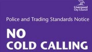 Cold callers' sign