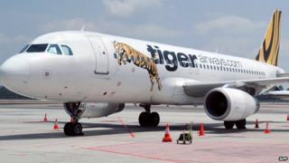 Tiger Airways plane
