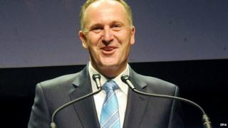 New Zealand's Prime Minister John Key at an event in Auckland, New Zealand - 20 September 2014