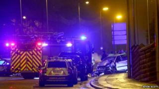 Two-vehicle collision near Carryduff