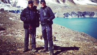 Sgt Paul Sherridan [left] and Steve Wilson in the Himalayas