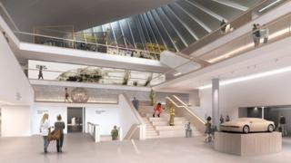 Design Museum - mocked up interior