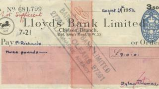 Dylan Thomas bounced cheque