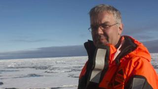 Prof Tom Rippeth in the Arctic