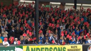 Bristol Rovers fans 'show racism the red card'