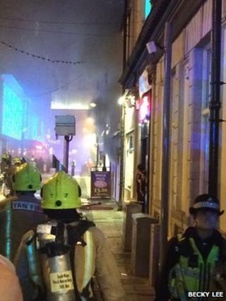 Fire on Caroline Street