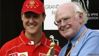Michael Schumacher and Prof Sid Watkins