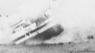 The sinking of HMHS Anglia