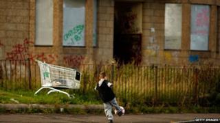 Child in Glasgow