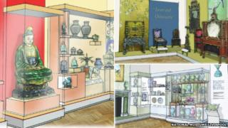 Plans for the China, Wedgwood and Chinoiserie rooms at the Lady Lever Gallery
