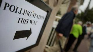 Jersey election 2014: Polling station sign