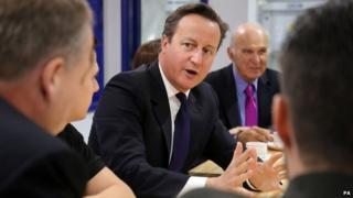 David Cameron at Ford Motor Company in Dagenham, Essex