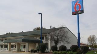 A Motel 6 in Hammond, Indiana, seen on 19 October 2014