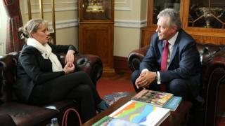 Mairia Cahill with Peter Robinson