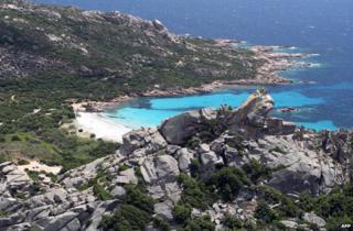 Corsica - beach and mountains