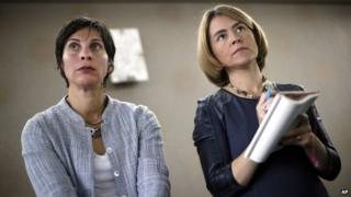 United Nations human rights experts Leilani Farha and Catarina de Albuquerque appeared in Detroit, Michigan, on 20 October 2014