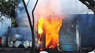 Blast at the Manikanta Fireworks factory