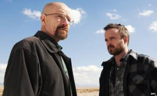 Breaking Bad characters Walter White and Jesse Pinkman