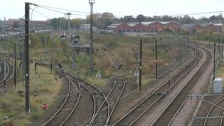 Brownfield land in between railway lines