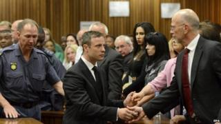 Oscar Pistorius trial: Sentence due for Steenkamp killing