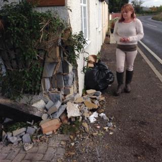 Debbie Yates and house damaged after fatal crash