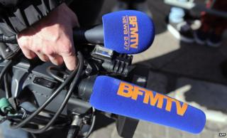 BFMTV camera and microphone