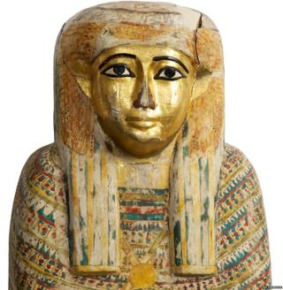 Wooden coffin lid from Thebes