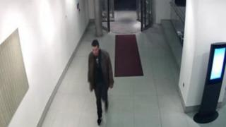 CCTV footage of Phillip Spence entering the lobby of the Cumberland hotel