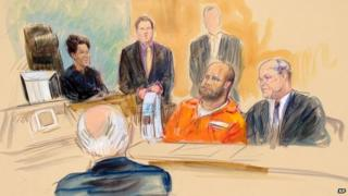A rendering of Omar Gonzalez in a Washington court on 1 October 2014