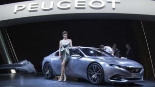 Peugeot Exalt is presented at the 2014 Paris Auto Show