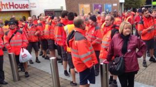 Unofficial postal workers strike