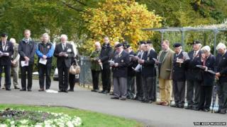 Commemoration service in Dorchester's Borough Gardens