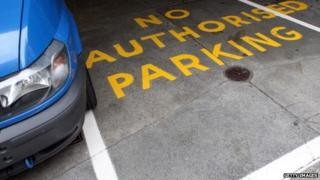 Private car parking space