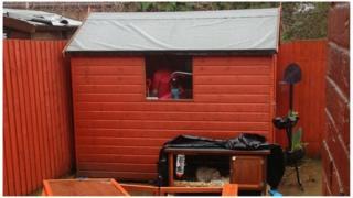 Stolen shed