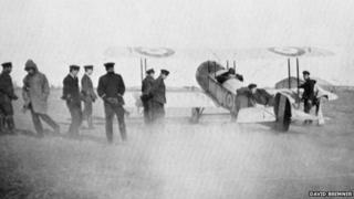 Fl Sub Lt Bremner taking off
