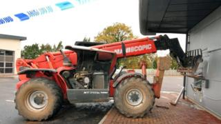 Stolen digger used in failed ATM theft