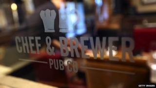 A Chef & Brewer pub