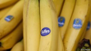 Fyffes and Chiquita bananas