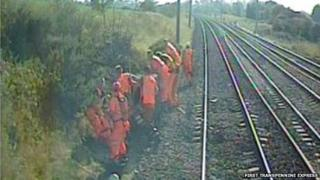 Image from the train involved in the incident