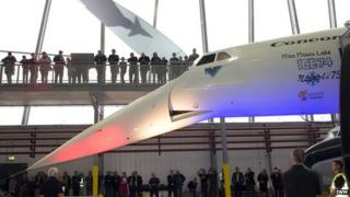 Restored Concorde nose mechanism demonstrated