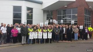 Rampton Hospital staff on strike