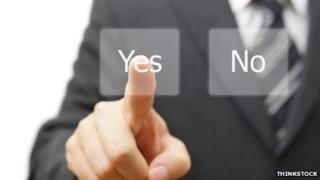 Yes/no vote buttons. Pic: Thinkstock