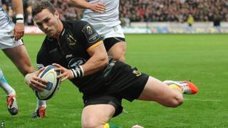 George North goes over for his first try as Northampton beat Ospreys