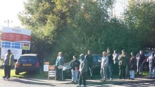 Picket line at Beighton on Sat 25 Oct