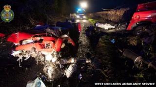 The crash near Kington, Herefordshire