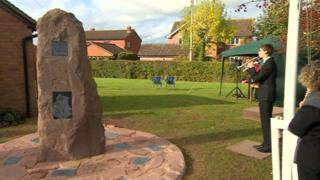 The new war memorial at Kempley