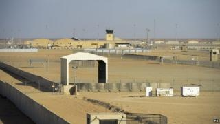 An empty Camp Bastion in Afghanistan on 25 October 2014